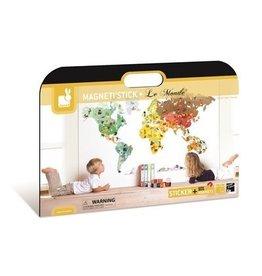 Jura Toys Janod Magneti Stick Wall Decor World Map