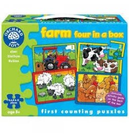 Orchard Toys Orchard Toys Farm Four in a Box First Counting Puzzle
