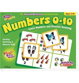 Trend Trend Numbers 0 to 10 T58102 Match Me Puzzle Game Ages 3 to 6