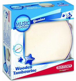 The Original Toy Company Wooden Tambourine