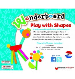 Dowling Magnets Wonderboard Magnet Set  Play with Shapes