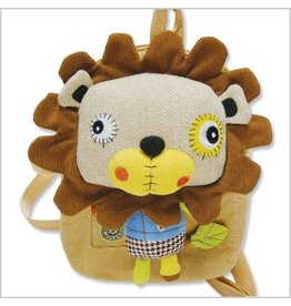 Pecoware Pecoware Eco Snoopers Backpack with Removable Plush Smog The Tog Lion