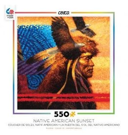 Gamewright Ceaco Brainwright Ceaco 550 Piece Native American Sunset Puzzle