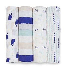 Aden and Anais Aden and Anais high seas 4 pack classic swaddles