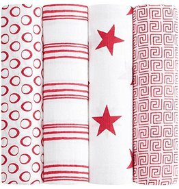 Aden and Anais Aden and Anais RED Classic Swaddle 4 pack DNR