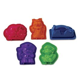 Toysmith Wacky Tivities Kinetic Sand Molds Multi Pack Brown Green