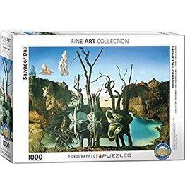 Eurographics EuroGraphics 1000 Piece Puzzle Swans Reflecting Elephants by Salvador Dali