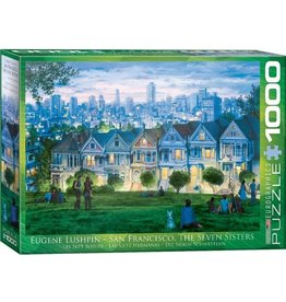 Eurographics EuroGraphics 1000 Piece Puzzle San Francisco The Seven Sisters  by Eugene Lushpin
