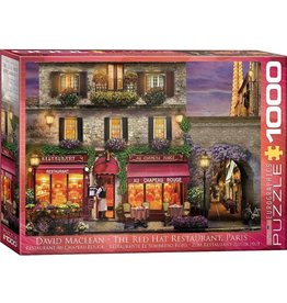 Eurographics EuroGraphics 1000 Piece Puzzle The Red Hat Restaurant Paris by David McLean