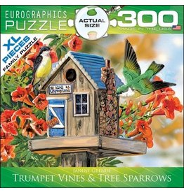 Eurographics EuroGraphics 300 Piece Puzzle Trumpet Vines and Tree Sparrows by Janene Grende