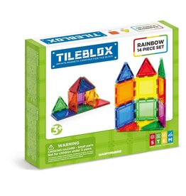 Magformers Tileblox Rainbow 14 Piece Set