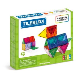 Magformers Tileblox Rainbow 20 Piece Set
