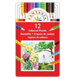 C2F Inc Fantasia 12 Colored Pencils in a Tin