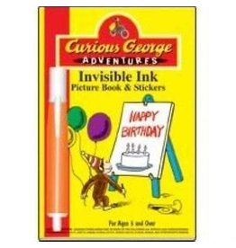 Lee Publications Curious George Adventures Invisible Ink Pad