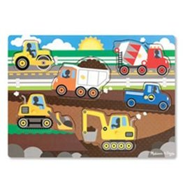 Melissa and Doug Melissa and Doug Construction Site Peg Puzzle