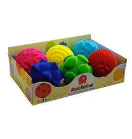 Rubbabu Rubbabu Whacky Ball Asst Large 4 Inch Single Colors and Styles Vary