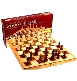 John Hansen Wooden Chess Set with Box Board