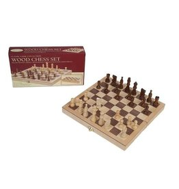 John Hansen Wooden Chess Set Folding Box Board