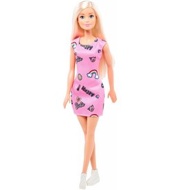 Mattel Mattel Happy Barbie Blonde Hair Pink Dress