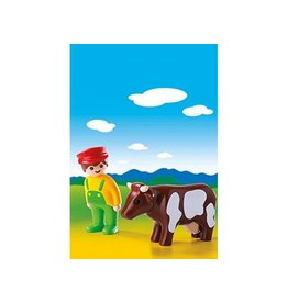 Playmobil Playmobil 1 2 3 Farmer with Cow