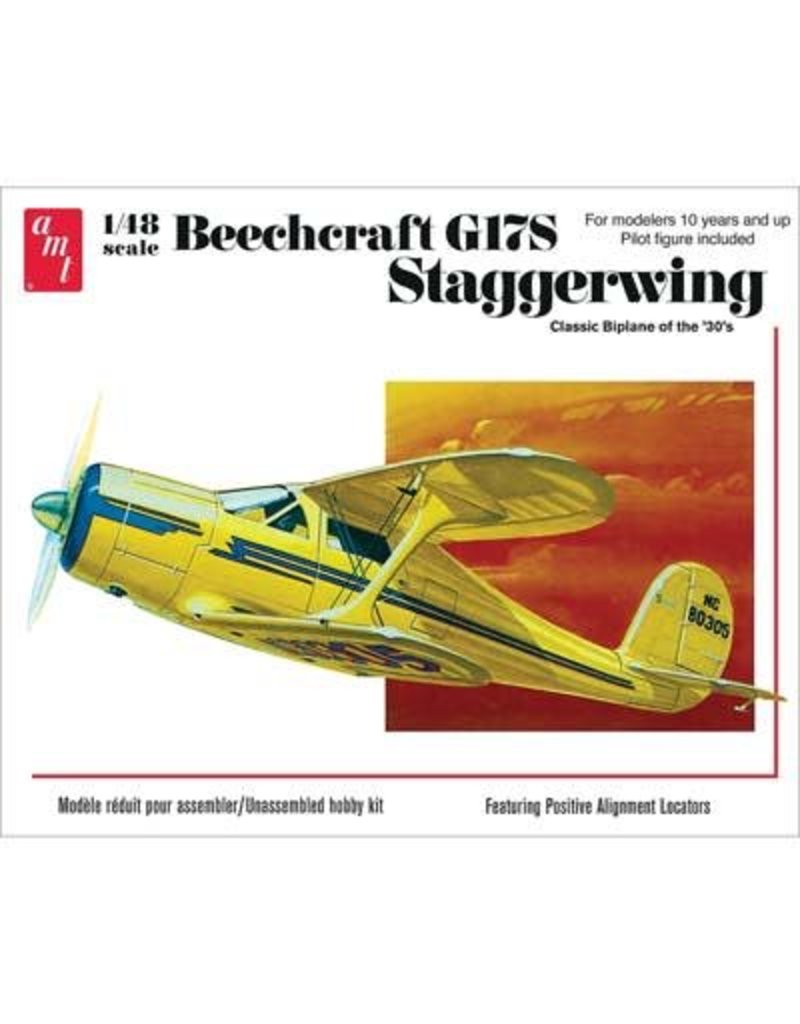 Great Planes Model Distributors AMT 1 48 Beechcraft G17S Staggerwing