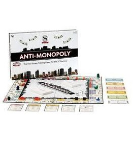 University Games Anti Monopoly Board Game