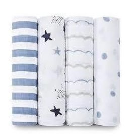 Aden and Anais Aden and Anais Rock Star Classic Swaddle Blanket 4 Pack