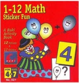 John Hansen Buki Book Sticker 1 to 12 Math