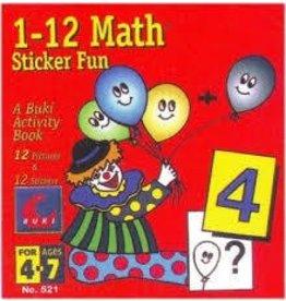 John Hansen Buki Book Sticker 1 to 12 Math