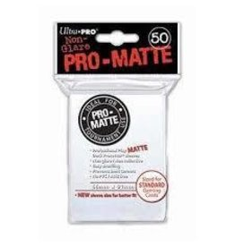 Alliance Pro Matte White Sleeve 50 Pack Deck Protector