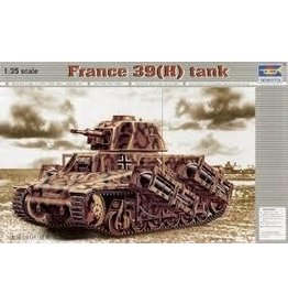 Grant and Bowman Trumpeter 1 35 French 39H Tank with 37mm SA38 L33 Long Barreled Gun Plastic Model Kit