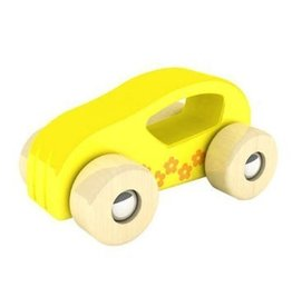 Hape International Educo Little Auto Yellow Wood Car