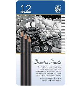 C2F Inc Drawing Pencils 12 in Tin