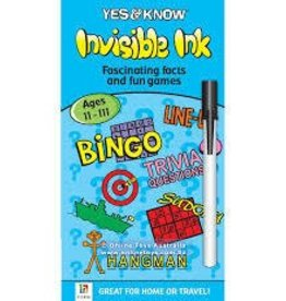 Lee Publications Invisible Ink Yes and Know 11 to 111