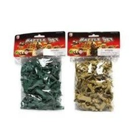 Castle Toys Inc Battle Set of 50 Plastic Soldiers Single Colors Vary