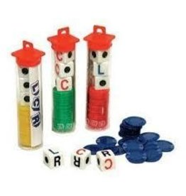 CHH Games LCR Family Dice Game Single Colors Vary