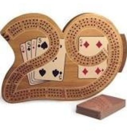 CHH Games 29 Inch Large Cribbage Board with 3 Tracks