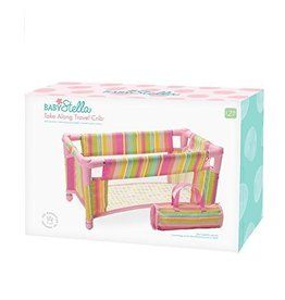 Manhattan Toy Manhattan Toy Baby Stella Take Along Travel Crib Pack and Play Accessory for Nurturing Dolls