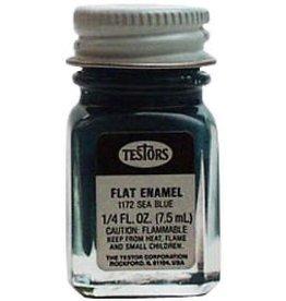 Horizon Hobby Testors Flat Sea Blue Paint Jar