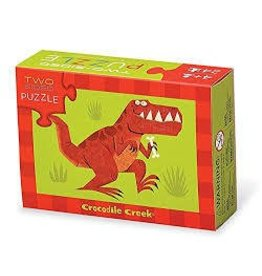 Crocodile Creek Crocodile Creek 24 pc Two Sided Puzzle Dinosaurs