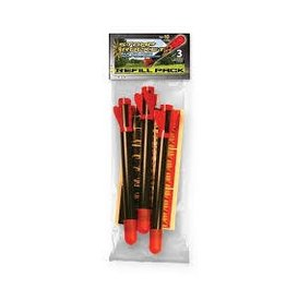 D and L Company The Original Stomp Rocket Super High Performance 3 Rocket Refill Pack
