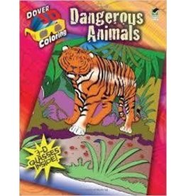 Dover Dover 3D Dangerous Animals Coloring Book