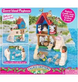 Epoch Everlasting Play Calico Critters Secret Island Playhouse Toy DNR
