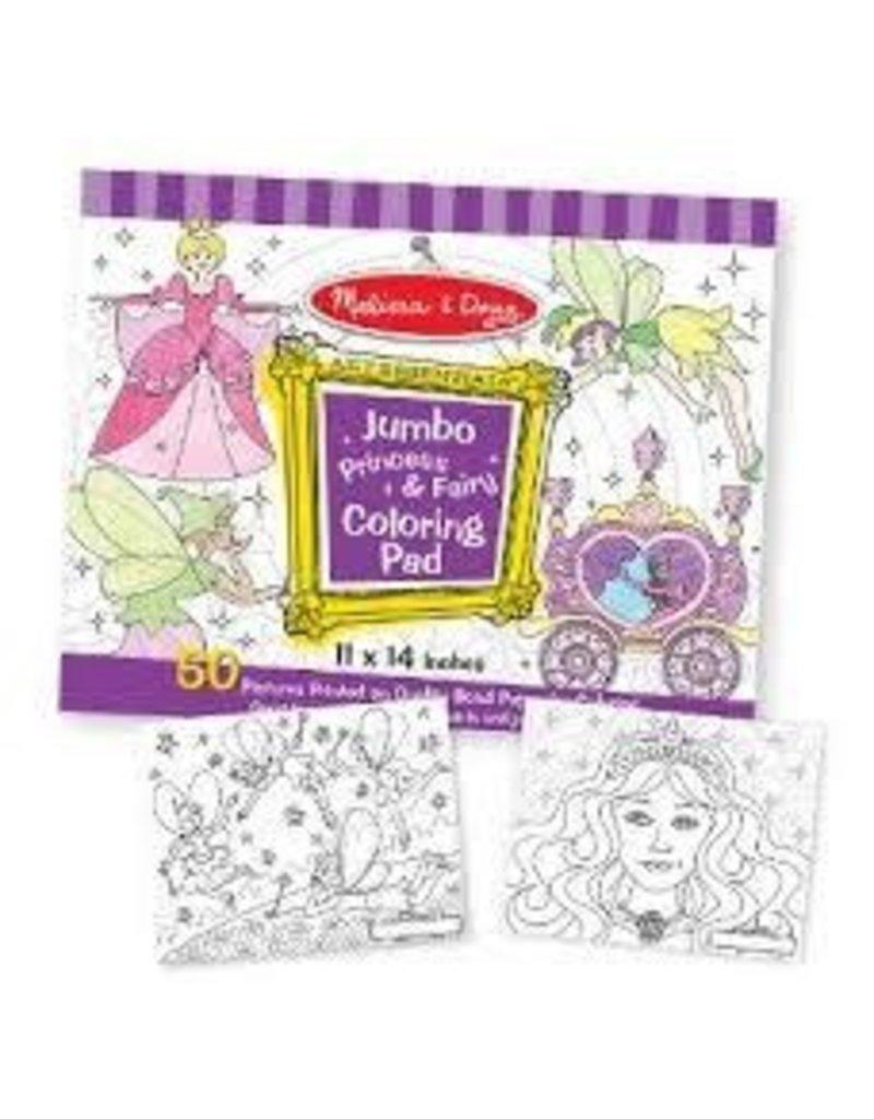 Melissa and Doug Melissa and Doug Jumbo Princess and Fairy Coloring ...
