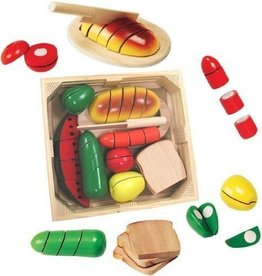 Melissa and Doug Melissa and Doug Wooden Pretend and Play Cutting Food Set