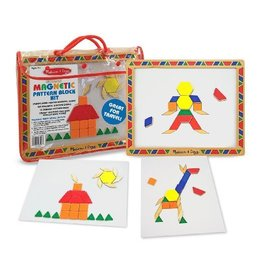 Melissa and Doug Melissa and Doug Deluxe Wooden Magnetic Pattern Blocks Set