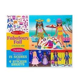 Melissa and Doug Melissa and Doug Fabulous Foil Sticker Pad Fashion