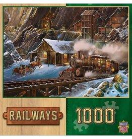 Master Pieces MasterPieces Railways When Gold Ran the Rails 1000 Piece Puzzle