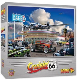Master Pieces MasterPieces Cruisin Rt 66 Bomber Command Cafe 1000 Piece Puzzle