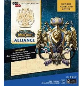 Insight Editions IncrediBuilds World of Warcraft Alliance 3D Wood Model and Poster
